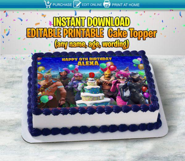 Fortnite Cake Topper Art Choke